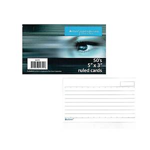 Besform Ruled White Index Card 127 x 76mm - Pack of 50