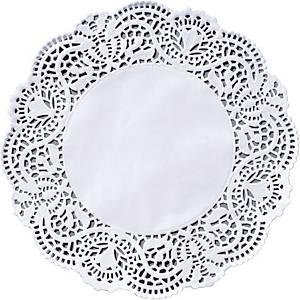 Taartkantjes, rond, 19 cm, wit, pak van 250 stuks