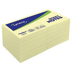 Lyreco 黃色可再貼便條紙 3吋 x 3吋