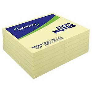Lyreco 黃色可再貼便條紙 3吋 x 5吋