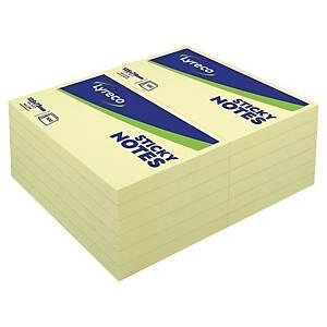 Bloco 100 notas adesivas Lyreco - amarelo - 76x127mm