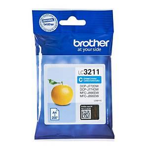 Brother LC3211C inkt cartridge, cyaan