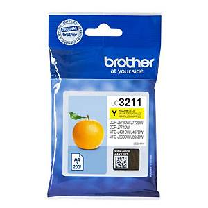 Brother LC3211 cartouche jet d encre jaune [200 pages]