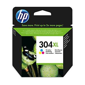 HP 304XL High Yield Tri-color Original Ink Cartridge (N9K07AE)