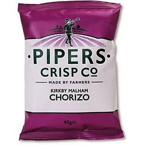 Pipers Crisp Co Chorizo 40G - Pack Of 24