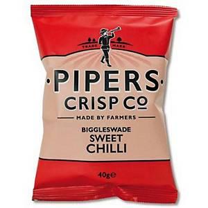 Piper Crisps Sweet Chilli 40G - Pack Of 24