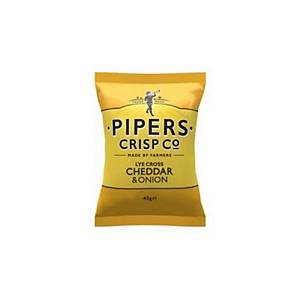 Pipers Crisp Co Cheddar & Onion 40G - Pack Of 24
