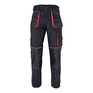 Spodnie robocze F&F BE-01-003, czarno-czerwone, rozmiar 52