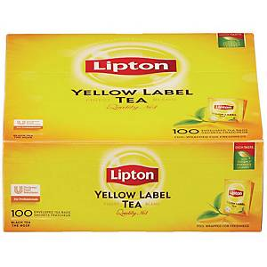 PK100 LIPTON YELLOW LABEL TEA BAGS