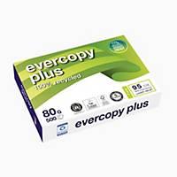 Kopierpapier Evercopy Plus A4, 80 g/m2, weiss, Pack à 500 Blatt