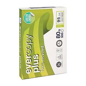 Papier A4 blanc recyclé Clairefontaine Evercopy Plus, 80g, 5 x 500 feuilles