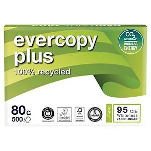 Resma de 500 folhas de papel reciclado Evercopy Plus - A4 - 80 g/m²