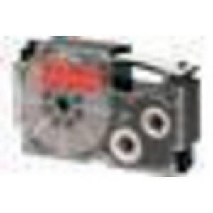 Casio XR12RD Tape Black/ Red 12mm X 8m