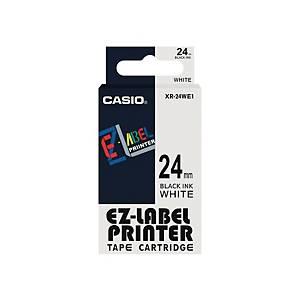 Casio XR24WE Tape Black/ White 24mm X 8m