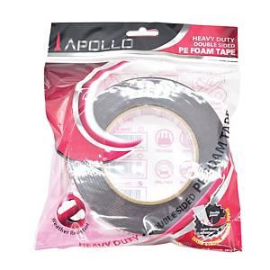 Apollo Heavy-Duty Double Sided PE Black Foam Tape 24mm X 8m