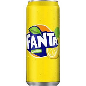Fanta Lemon frisdrank, pak van 24 blikken van 33 cl