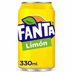 Pack de 24 latas de Fanta limón - 33 cl