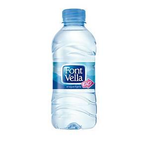 Pack de 35 garrafas de água Font Vella - 0,33 cl