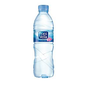 Pack de 24 botellas de agua Font Vella - 0,50 cl