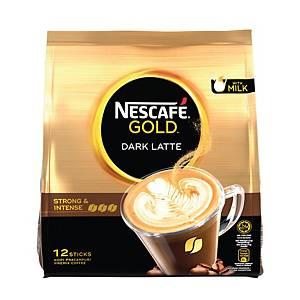 Nescafe Gold Dark Latte Coffee 31g - Pack of 12