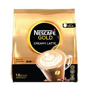 Nescafe Gold Creamy Latte Coffee - Pack of 12