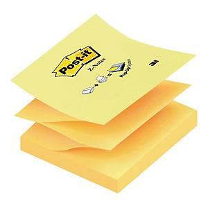Karteczki samoprzylepne Post-it® Z-Notes, klasyczne żółte,76x76mm, 100 sztuk