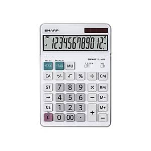 Sharp EL-340W Tischrechner, 12-stelliges LCD Display