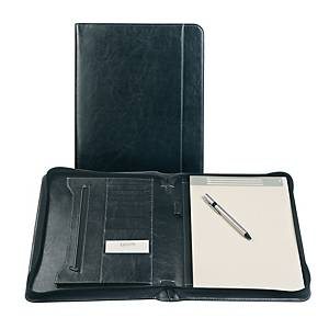 Brepols Palermo writing pad luxe with zipper + notepad A4 black