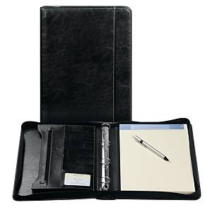 Brepols Palermo luxe writing pad + zipper + ringmechanism A4 black
