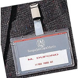 Support pour carte magnétique Durable avec pince,  86 x 54 mm, la pièce