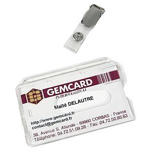 Porte-badge Gemcard pour 1 carte de sécurité - à pince