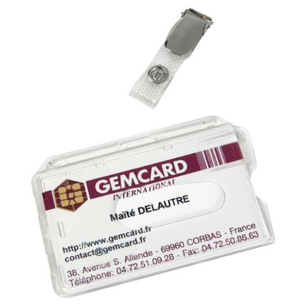 Porte Badge Gemcard Pour Carte Magnetique