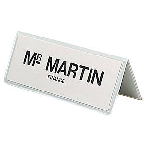 Table place name holder PVC 120x45mm - pack of 10