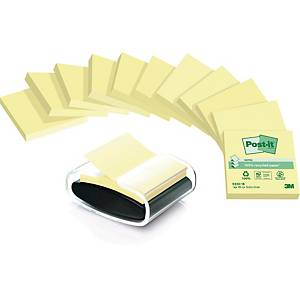 POST-IT R330 GENBRUG Z-NOTES PK12 + DISPENSER U/B
