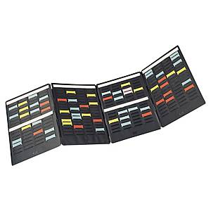 Mini planning portatif Nobo pour fiches T - 16 colonnes - 96 x 31,5 cm