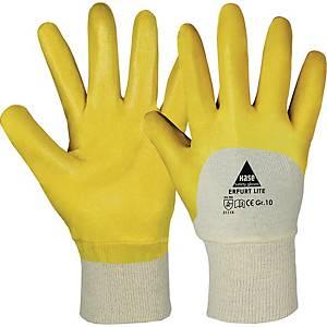 Mehrzweckschutzhandschuhe HASE Erfurt Lite, Nitril, Größe 9, gelb/weiß, 1 Paar