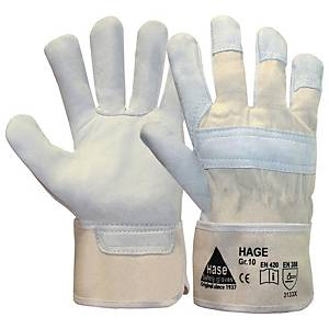 Arbeitshandschuhe Hase Hage Leder, Größe 10, grau, 1 Paar