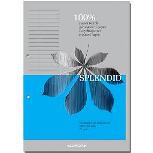 Aurora notepad A4 ruled glued 100 pages