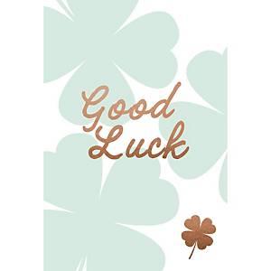 Carte de vœux de bonne chance, trèfle à quatre feuilles, paquet de 6