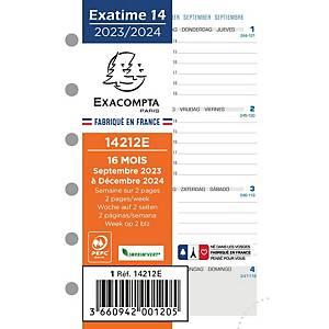 Vulling voor Exatime 14 organizer, 7 dagen per 2 pagina s, horizontaal