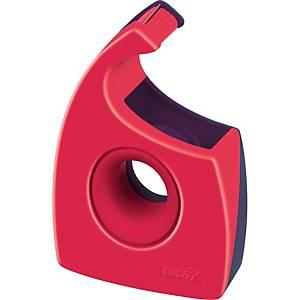 Handabroller Tesa 57444, für 19mm x 33m, rot/blau