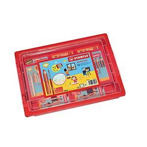 Stabilo® Woody 3-in-1 kleurpotloden en 2 slijpers, pak van 48 potloden