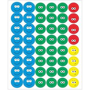 Apli beloningsstickers, expressieve gezichtjes, 4 kleuren, 576 stickers
