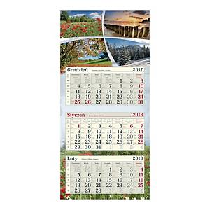 Kalendarz trójdzielny na 2019 CRUX, miks kolorów