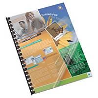 Lyreco PVC előlap, fényes, átlátszó, 100 darab/csomag