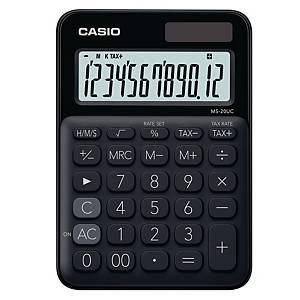 CASIO เครื่องคิดเลขชนิดตั้งโต๊ะ MS-20UC 12 หลัก สีดำ