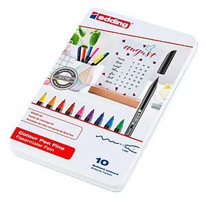 Pack de 10 rotuladores Edding 1200 - surtido