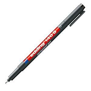 Edding 140 OHP permanens marker vékony heggyel, fekete