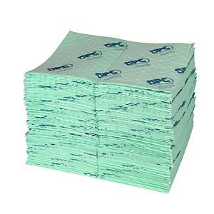 Chiffons absorbants produits chimiques Brady SPC UN100-E, boîte de 100 feuilles