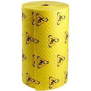 Rouleau de chiffons absorbants produits chimiques Brady SPC CH30DP, le rouleau